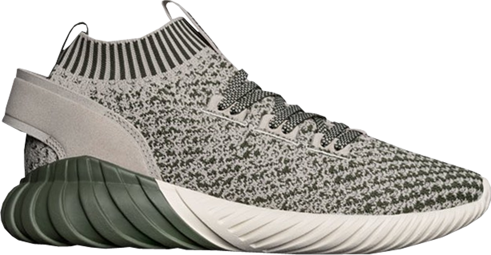 adidas Tubular Doom Sock Sesame Green