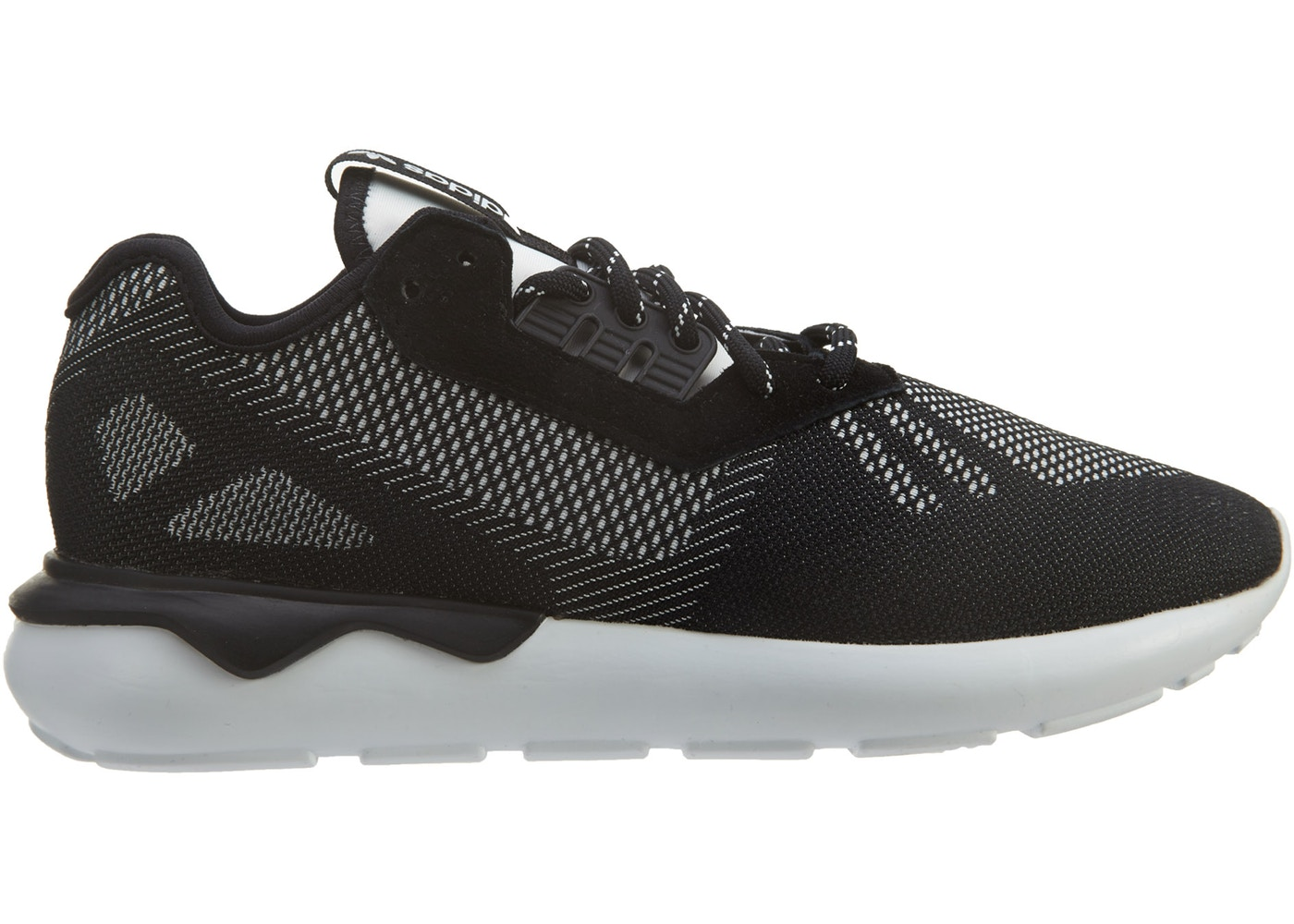 the latest d39d7 25c42 adidas Tubular Runner Weave Black Black White