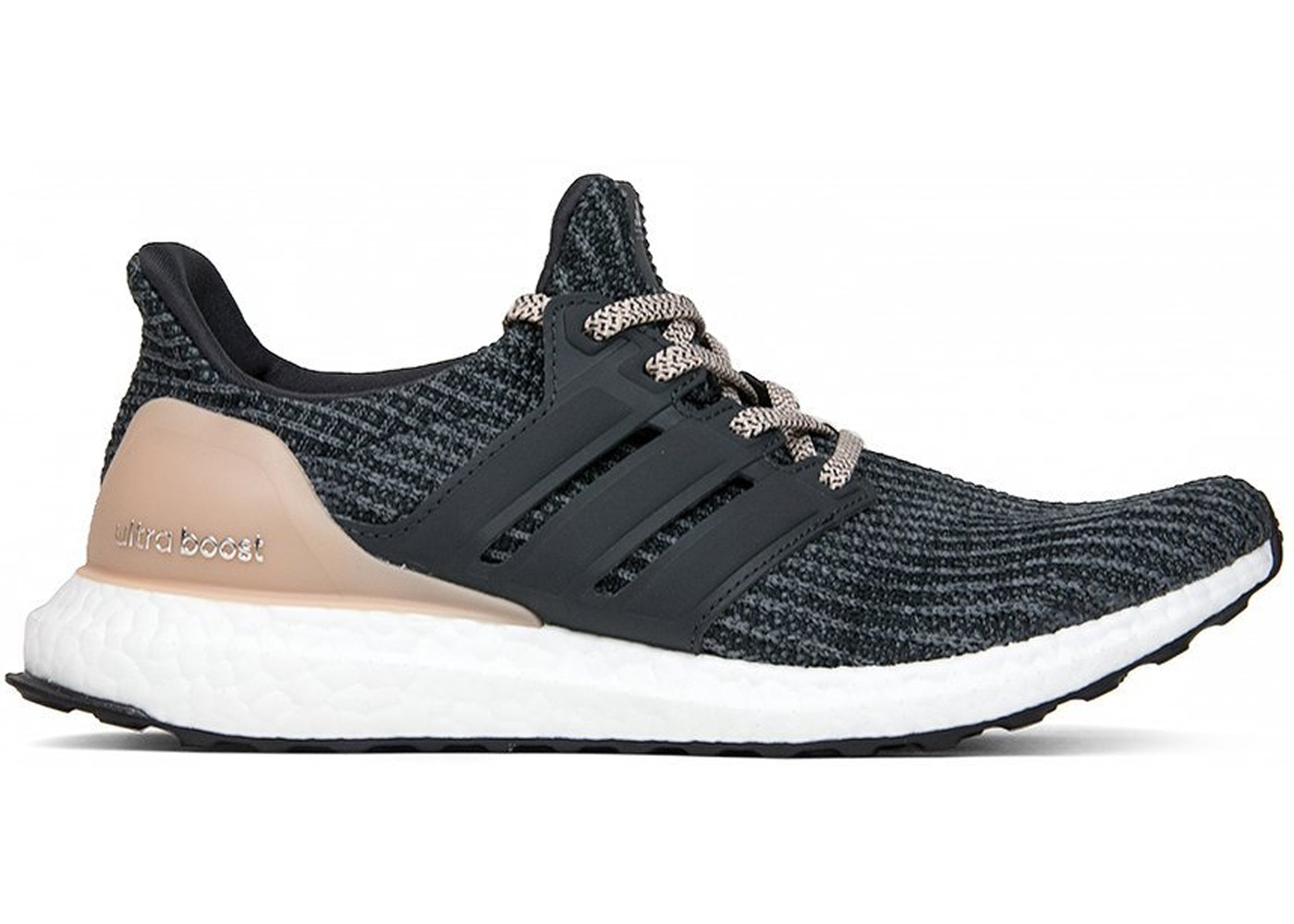 Adidas Ultra Boost 4.0 Ash Pearl Black Grey BB6174 Beige Tan Khaki