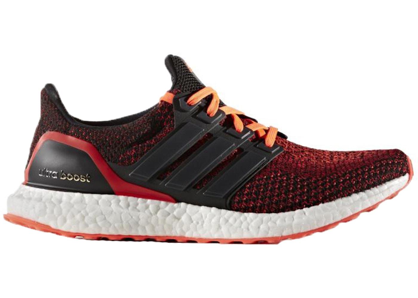 adidas Ultra Boost 2.0 Core Black Solar Red - AQ5930 f66d607d2
