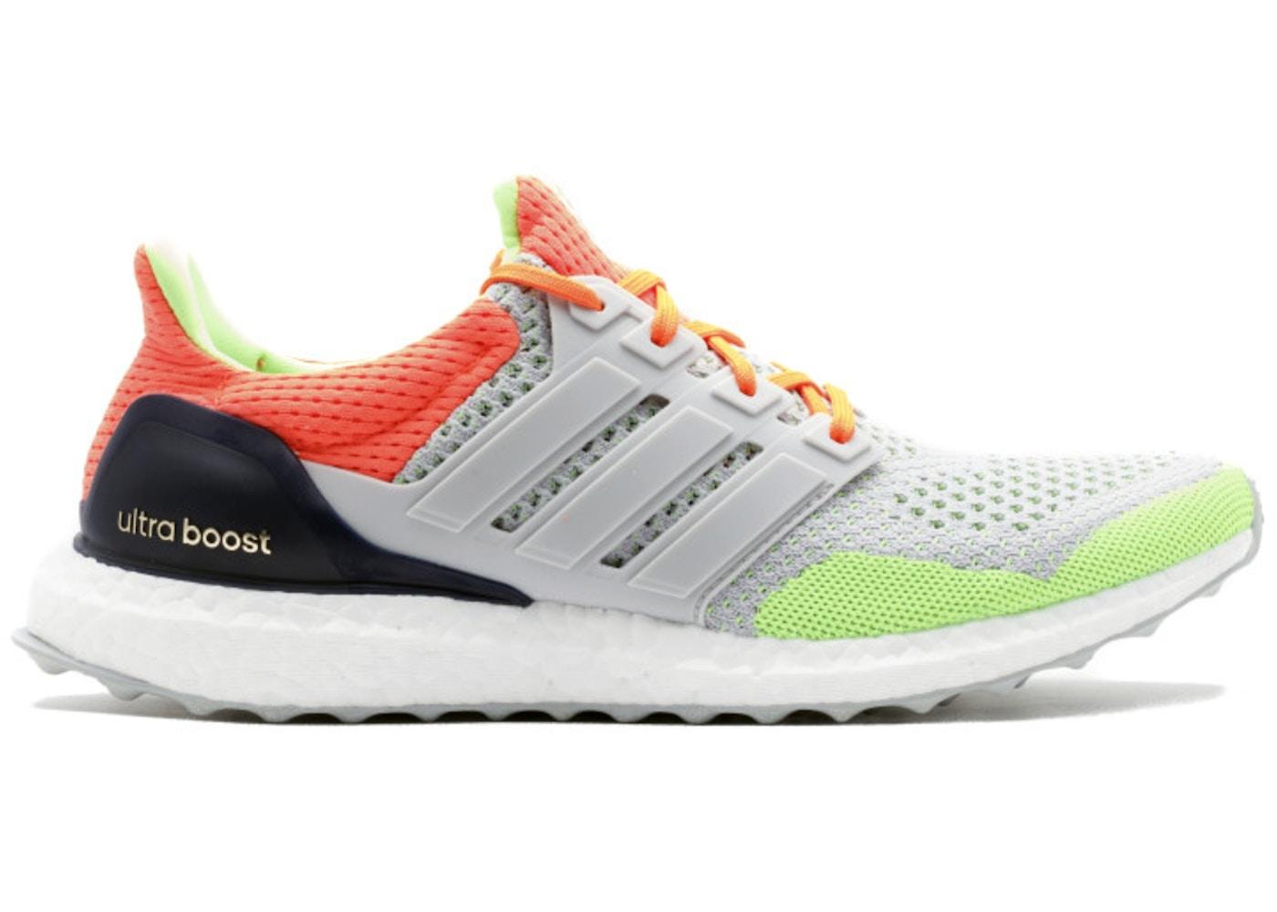 c8785c14f80f0 adidas Ultra Boost 1.0 Kolor Grey Solar Orange - AF6219