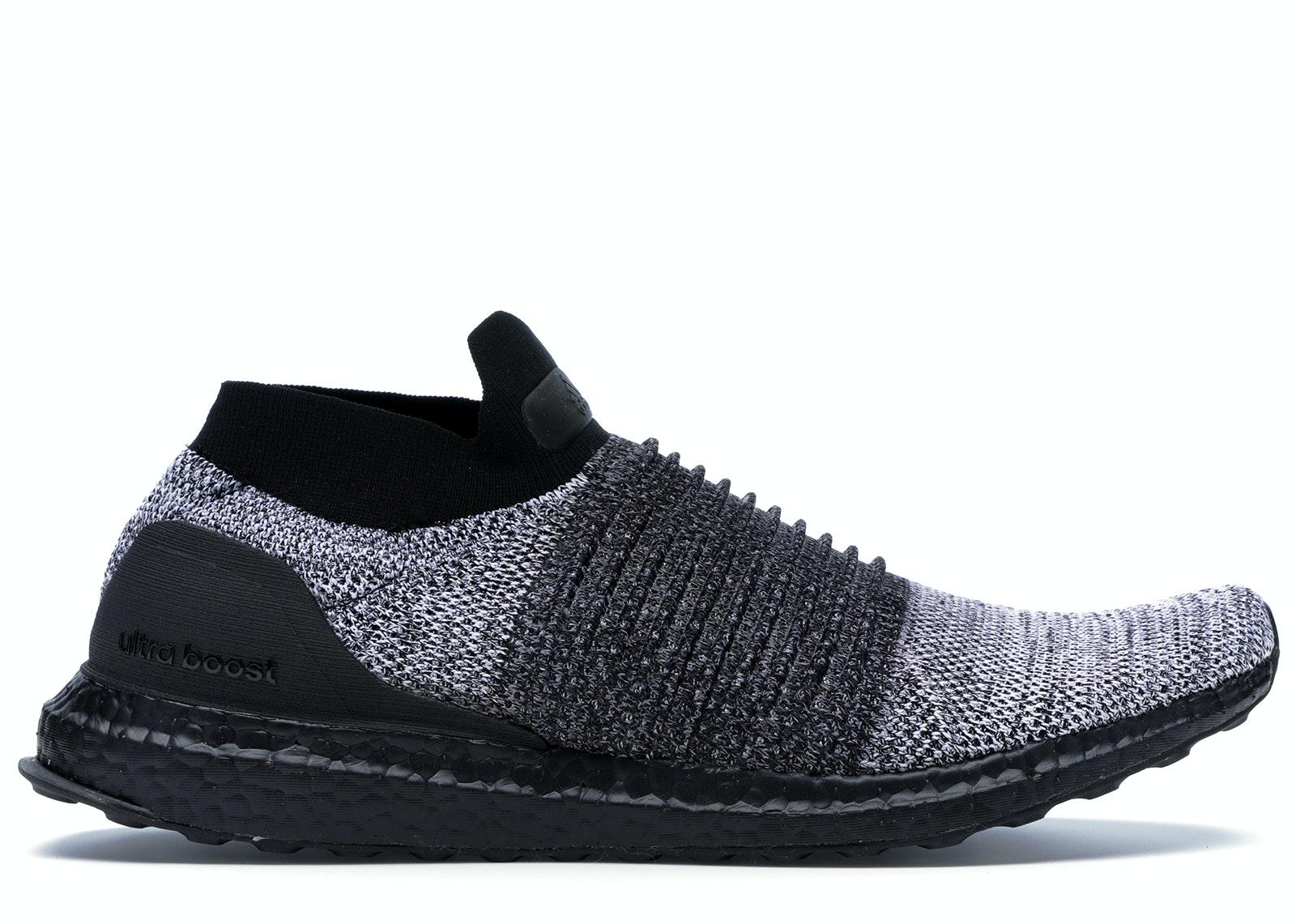 adidas Ultra Boost Laceless Mid Black Oreo
