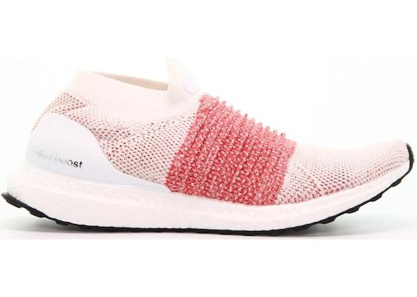 adidas Ultra Boost Laceless White Scarlet - BB6136 a7add0f73