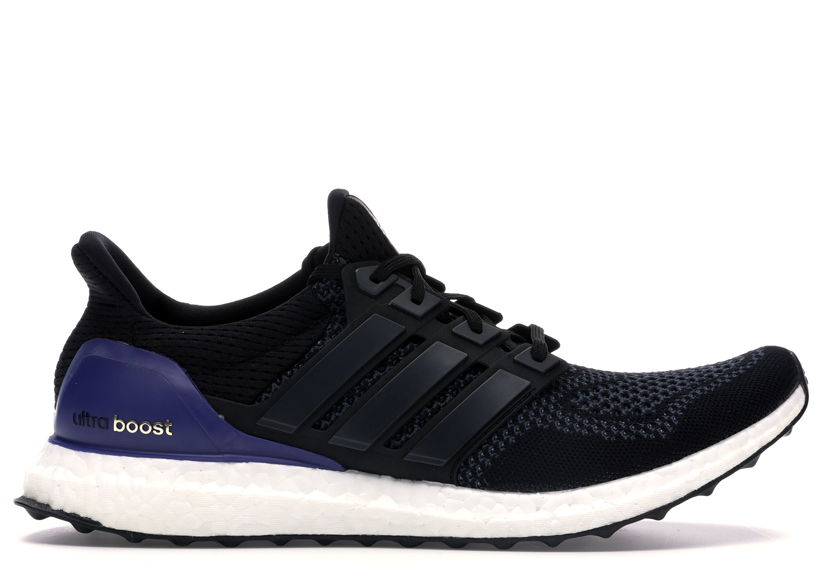 ultra boost black gold purple