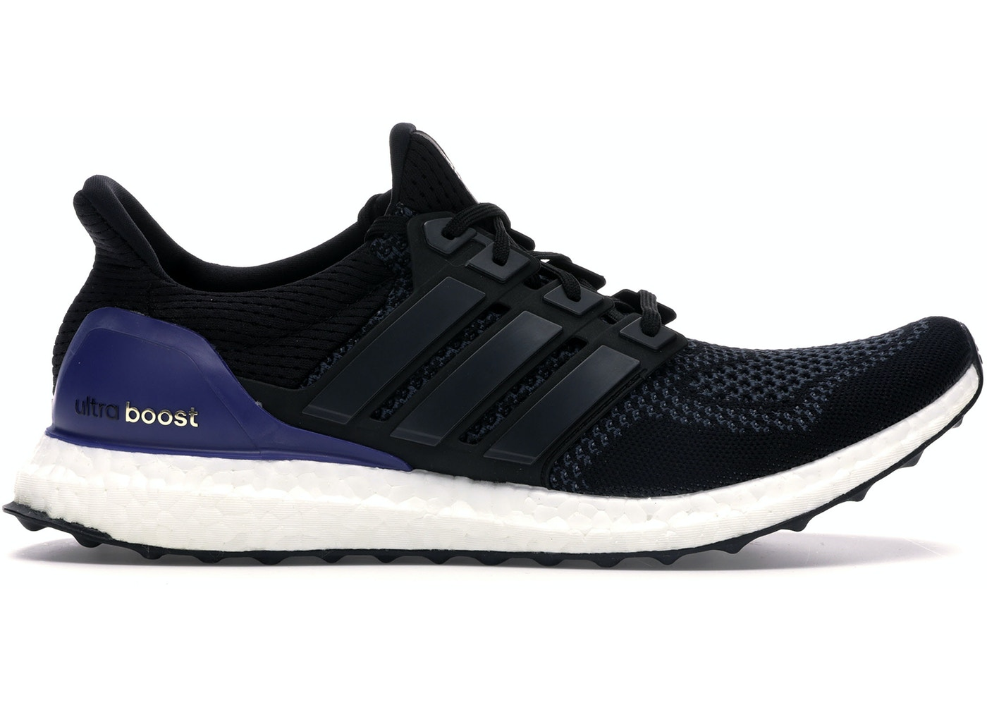check out 90376 7bb85 adidas Ultra Boost 1.0 OG Black Gold Purple
