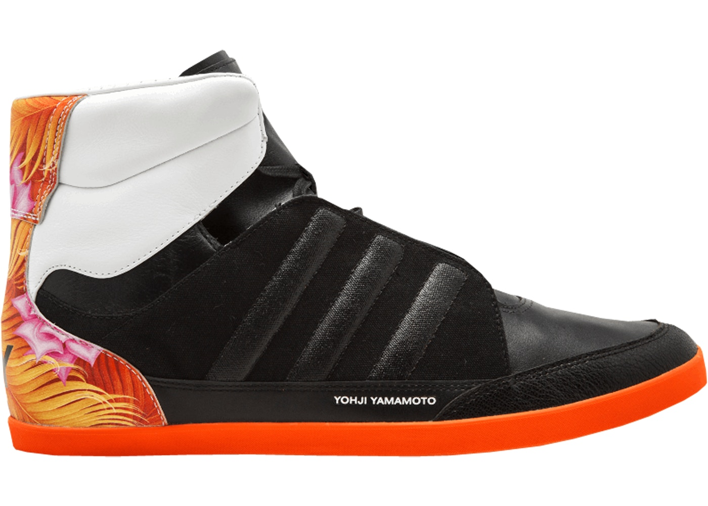 d36da794b adidas Y-3 Honja Hi Black Orange - Q34364