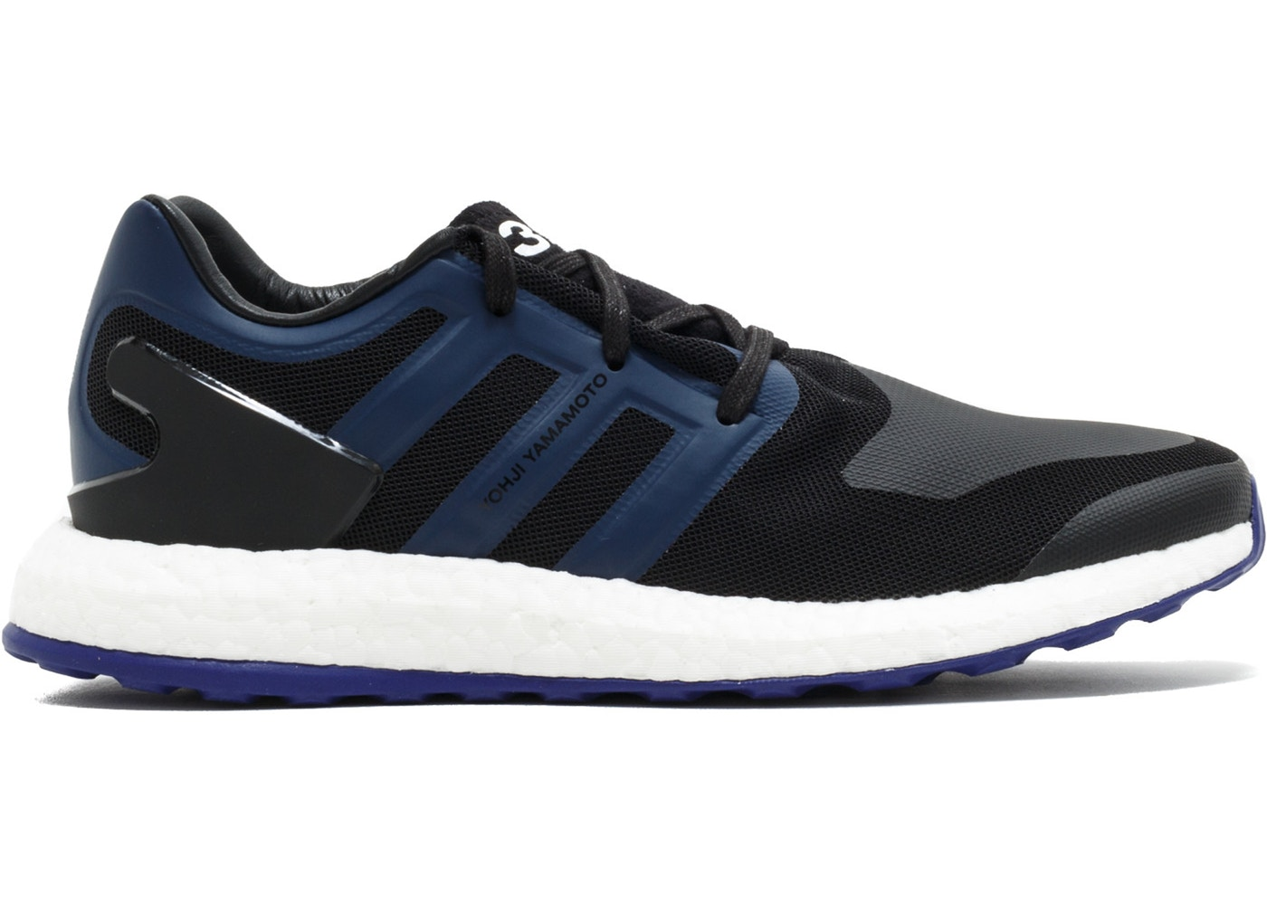 2a5078471c81b adidas Y-3 Pureboost Black Blue - BY8956