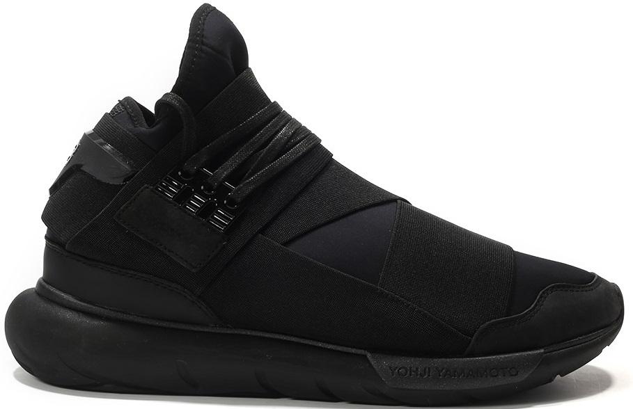 adidas Y 3 Qasa High Triple Black Geometric Pattern