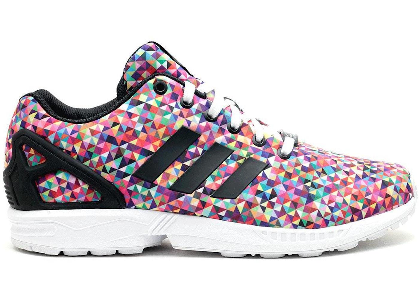 buy popular 2d5e1 c5a42 adidas ZX Flux Multi-Color Prism