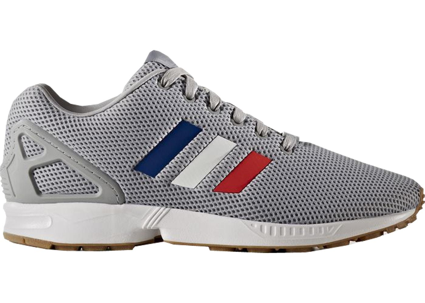 new style 67b7e 1430f adidas ZX Flux Tri-Color Stripes (Grey)