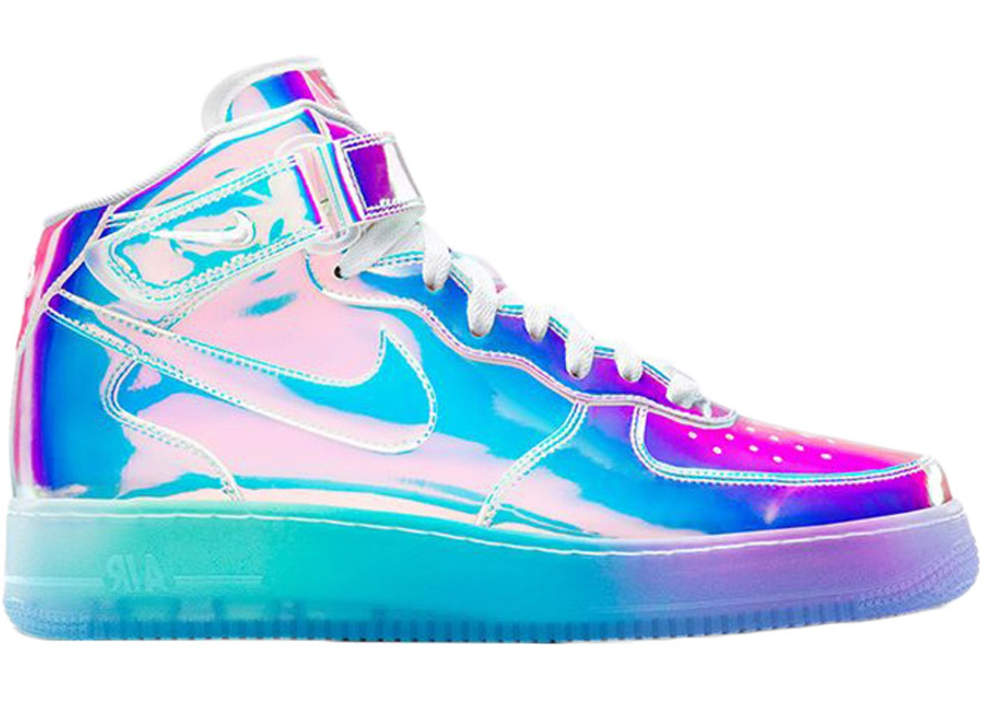 size 40 edcbd 63bc3 Air Force 1 Mid Iridescent (Nike ID) - 779425-991 nike air force 1 mid id