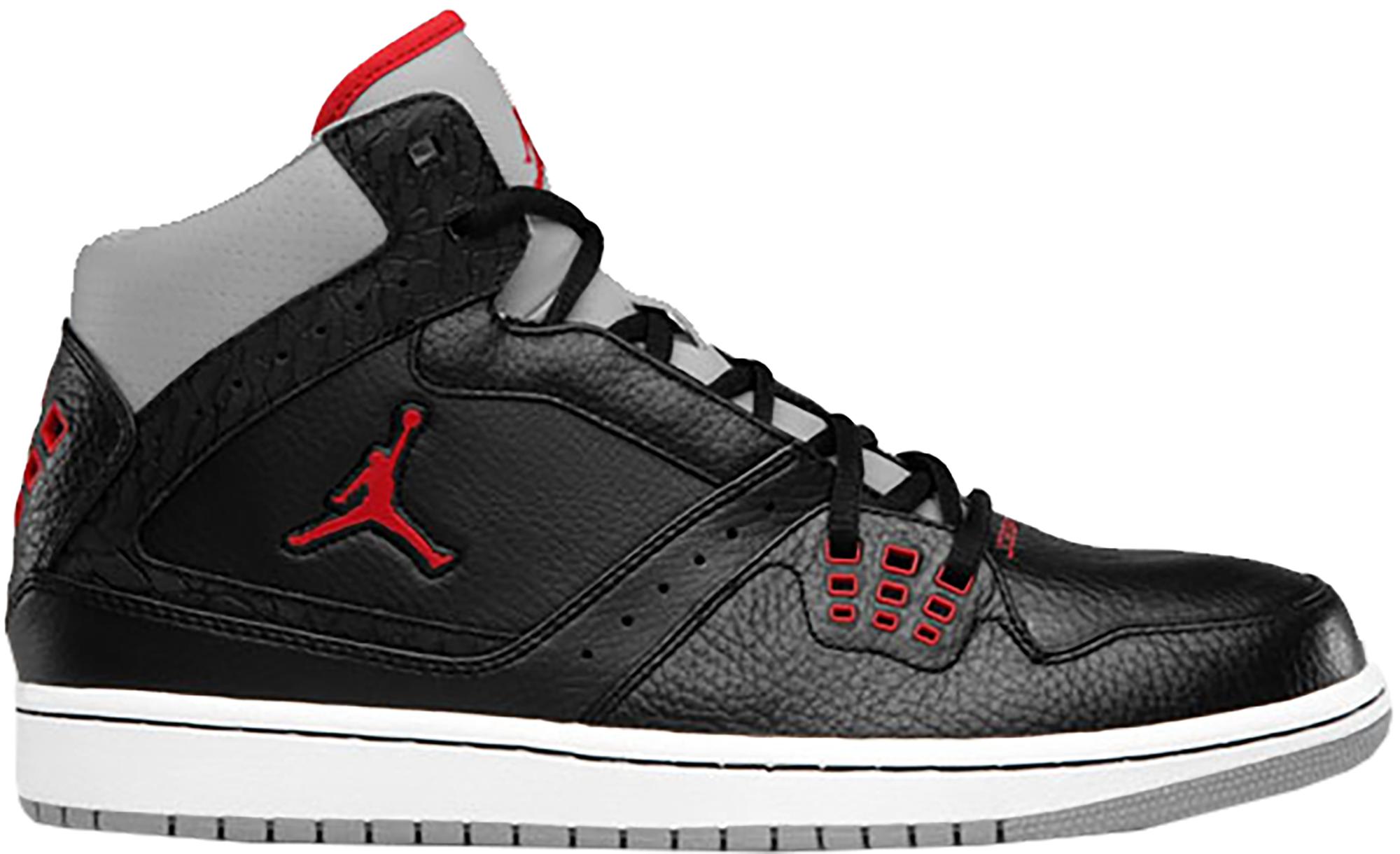 Jordan 1 Flight Black Red Cement