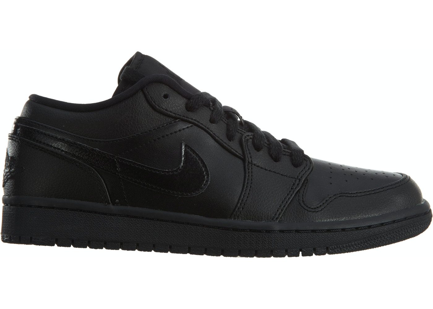 plus récent 30500 ac48c Jordan 1 Low Black Black Noir