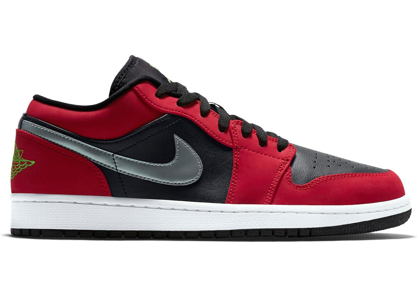 Jordan 1 Low Black Green Pulse Gym Red 553558 036