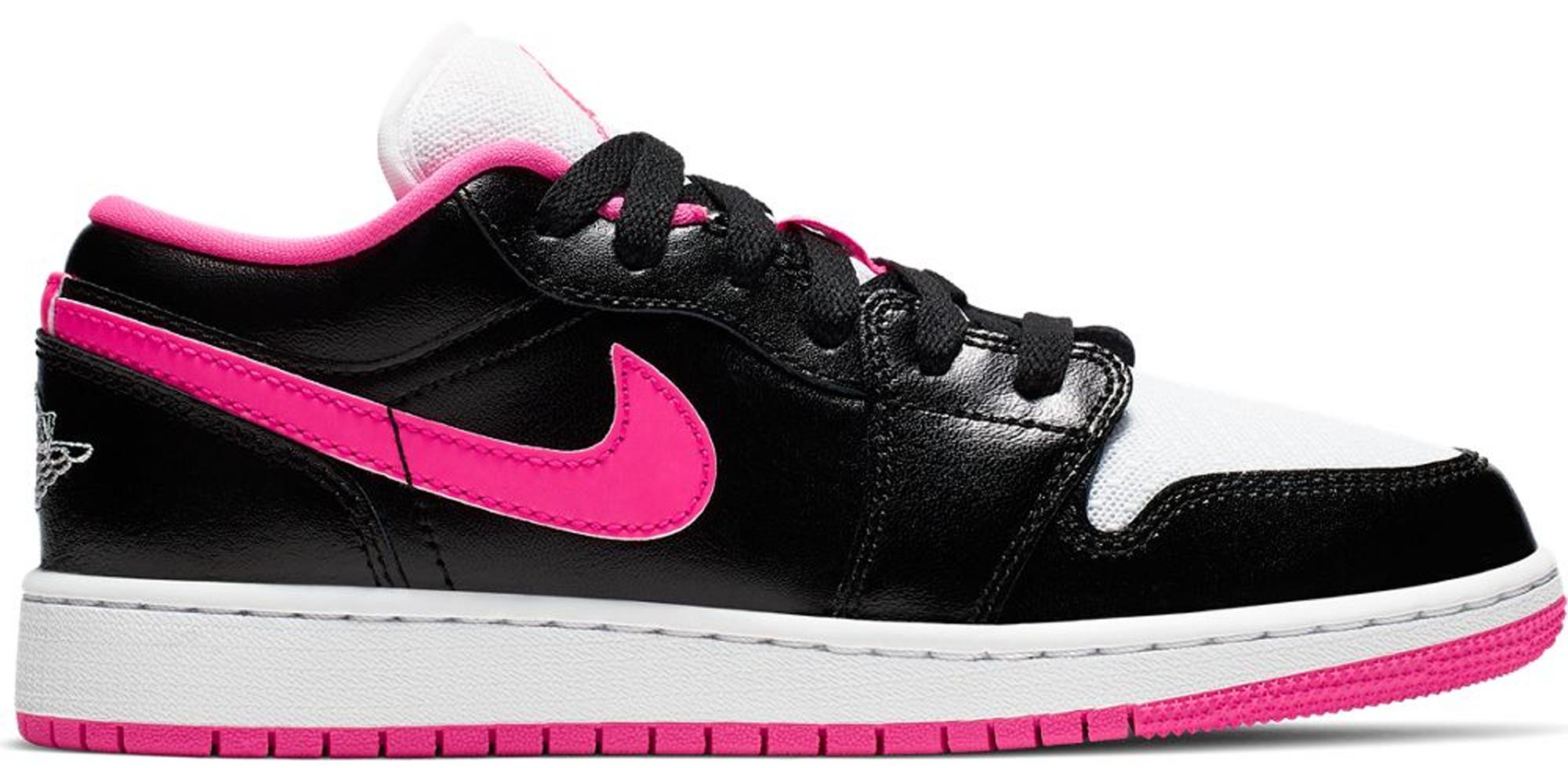 Jordan 1 Low Black White Hyper Pink (GS