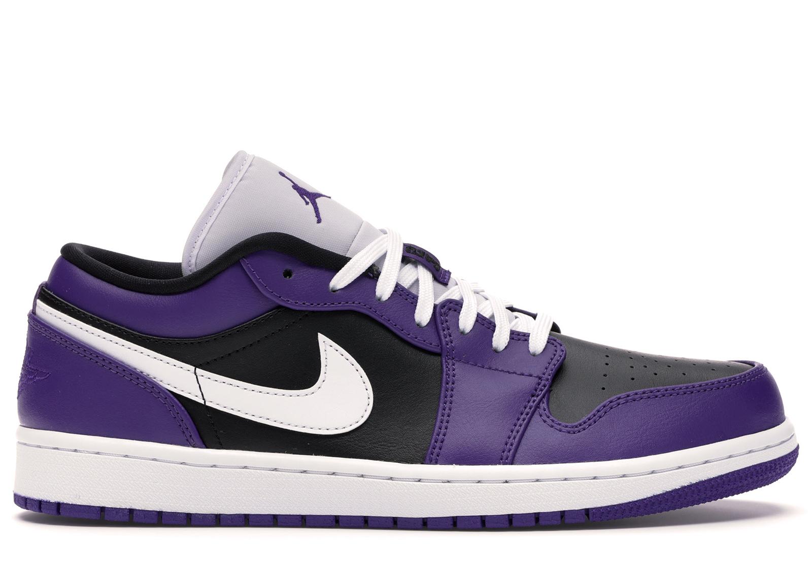 purple and black air jordan 1