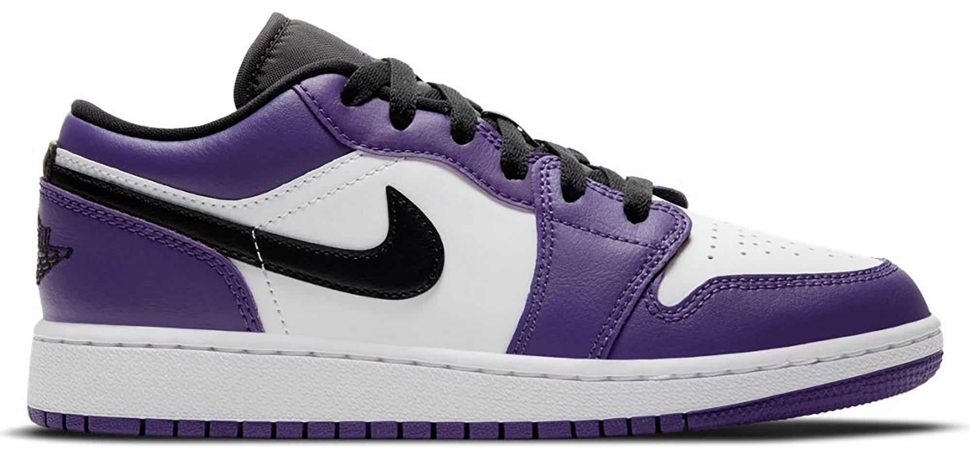 Jordan 1 Low Court Purple White (GS