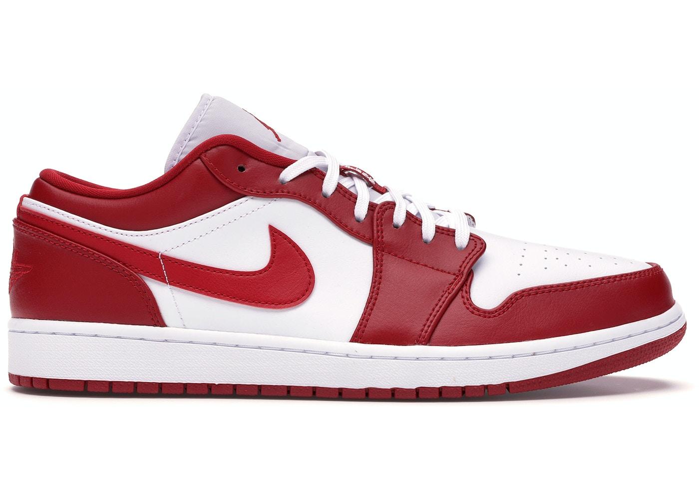 Jordan 1 Low Gym Red White 553558 611