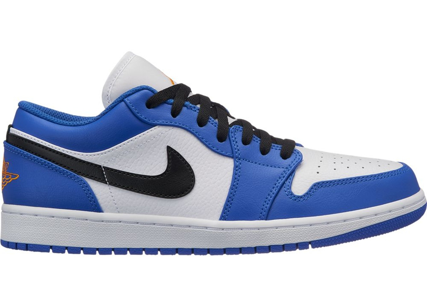 650186dc0f17cc Jordan 1 Low Hyper Royal Orange Peel - 553558-401