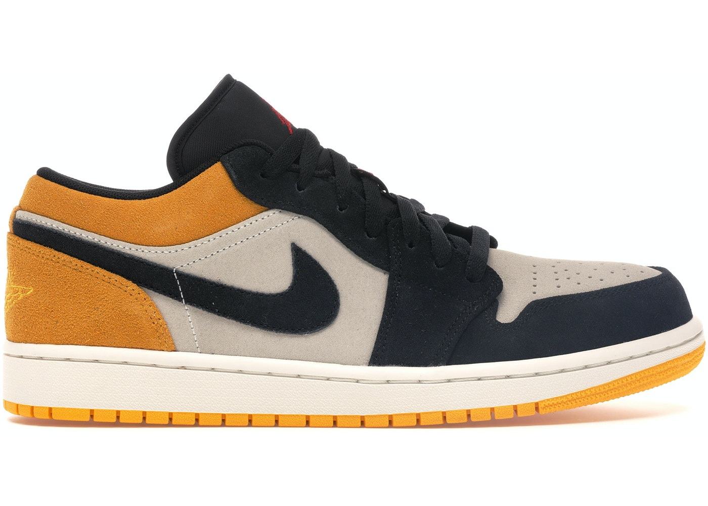 info for c9663 9deba Jordan 1 Low Sail University Gold Black - 553558-127