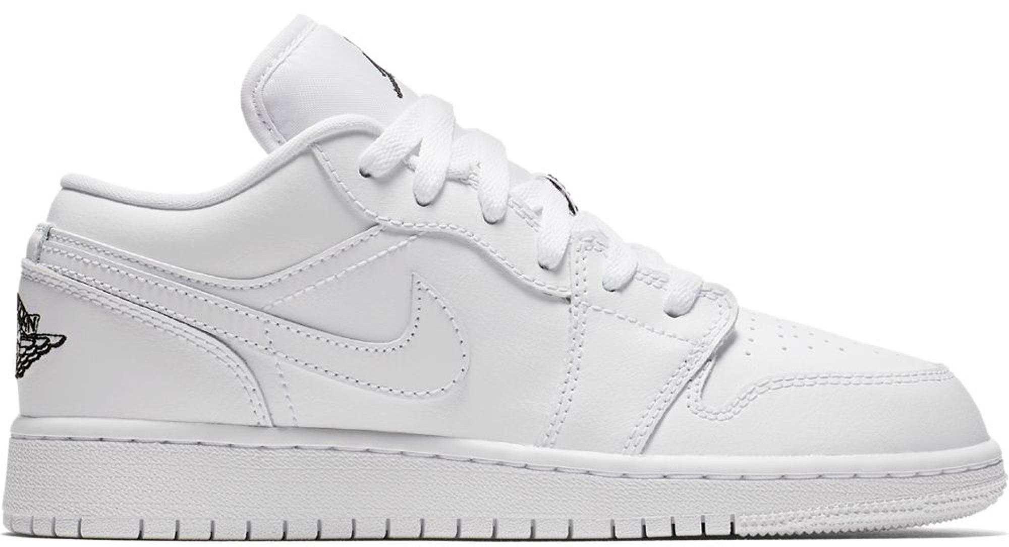 Jordan 1 Low Triple White (GS) - 553560-110