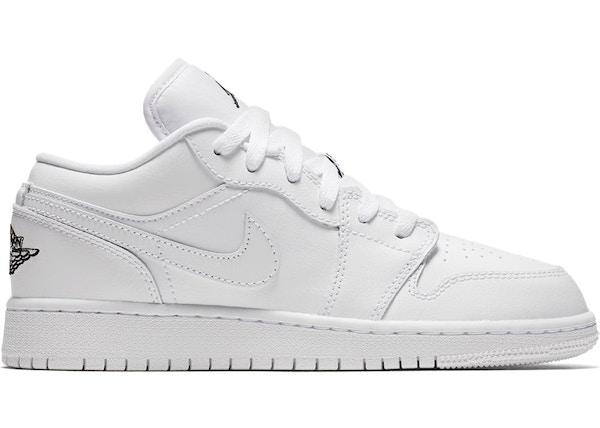 factory price cute cheap available Jordan 1 Low Triple White (GS) - 553560-110