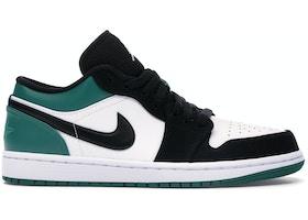 watch fac08 6f4e3 Jordan 1 Low White Black Mystic Green