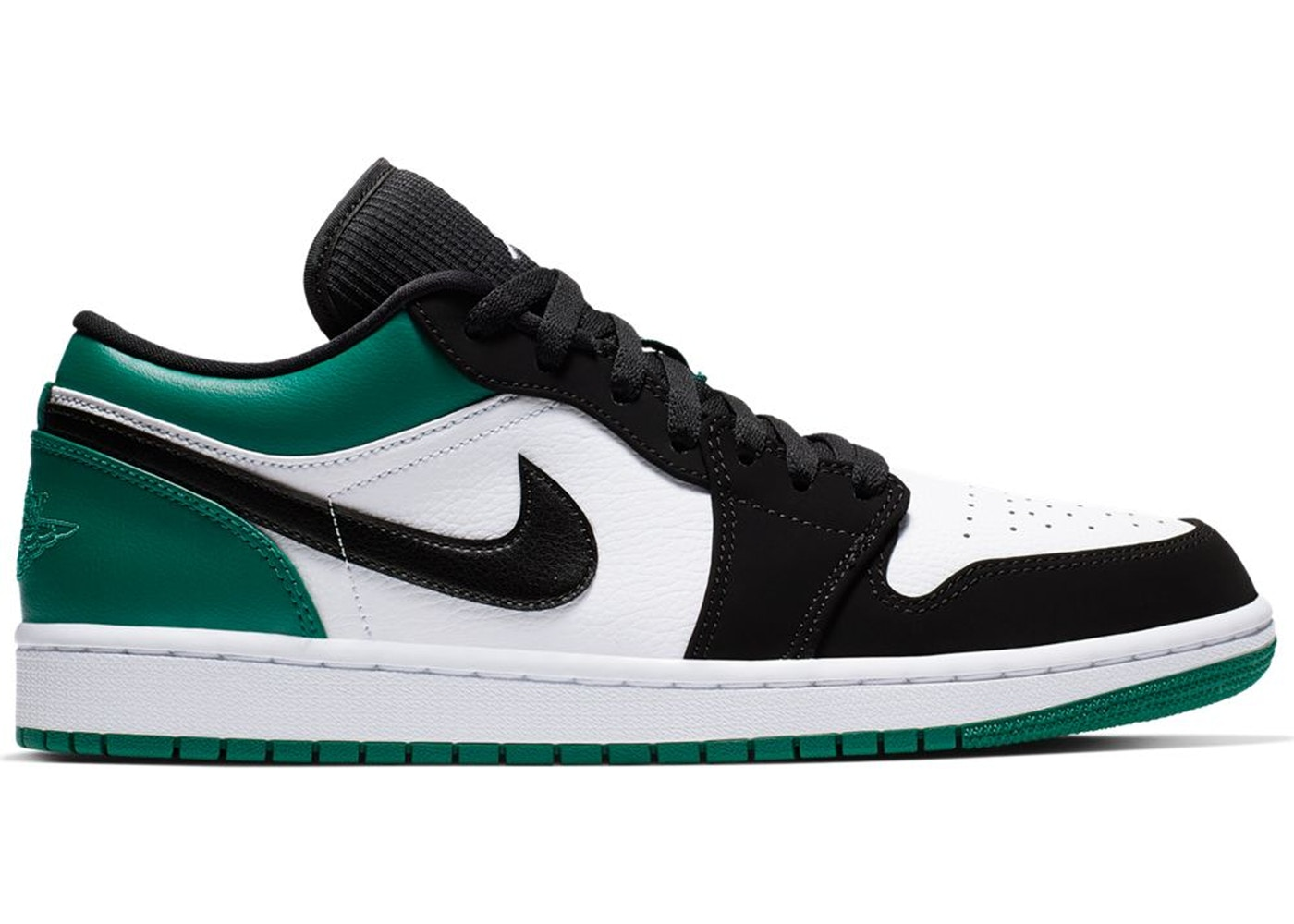 6b03512ef3a07b Jordan 1 Low White Black Mystic Green - 553558-113