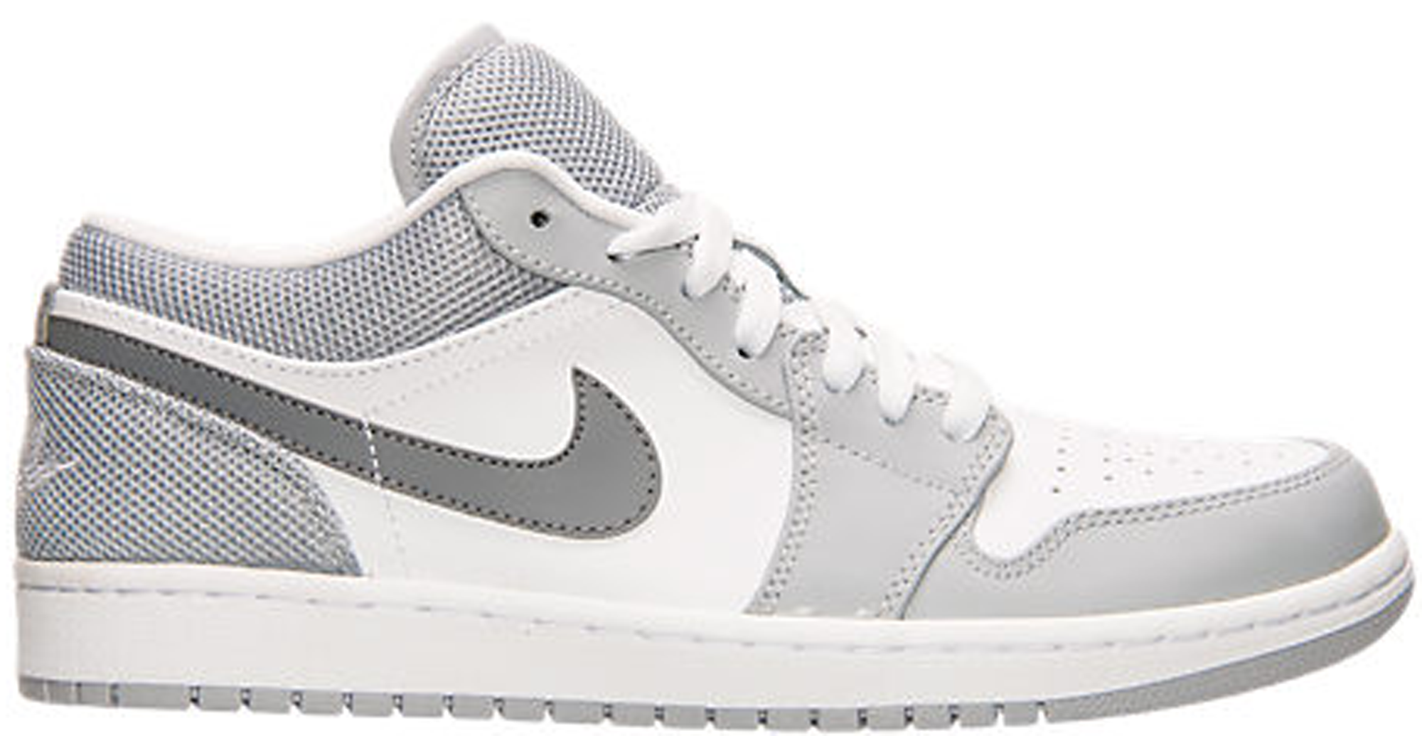 GS Nike Air Jordan 1 Low Shoes 553560-003 Youth Basetball  cool grey 6.5Y