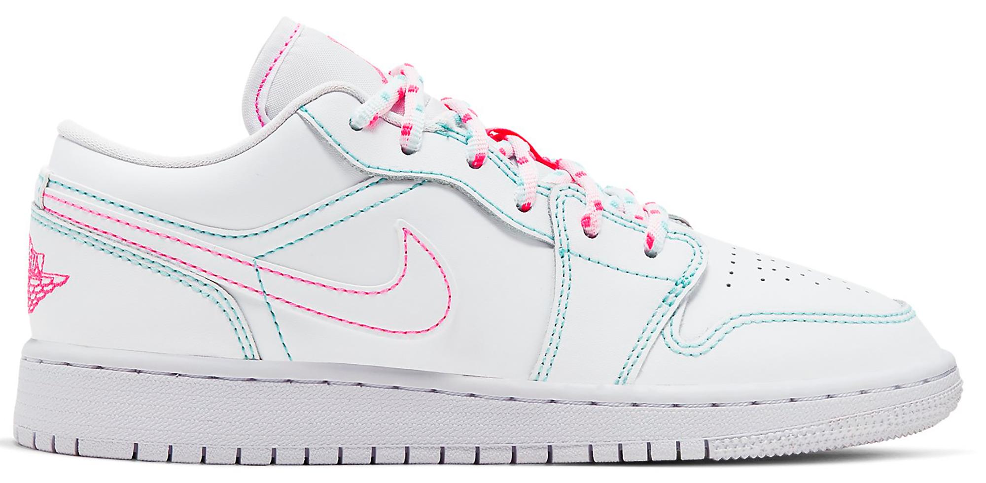 light pink and white jordans