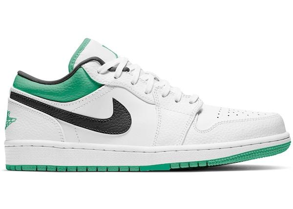 Jordan 1 Low White Lucky Green Black - 553558-129