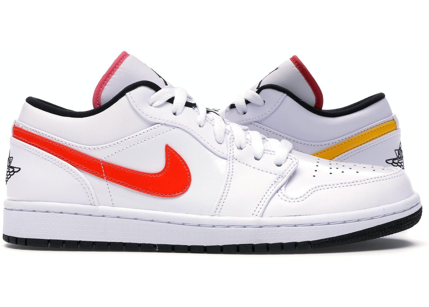 Jordan 1 Low White Multi Color Cw7009 100