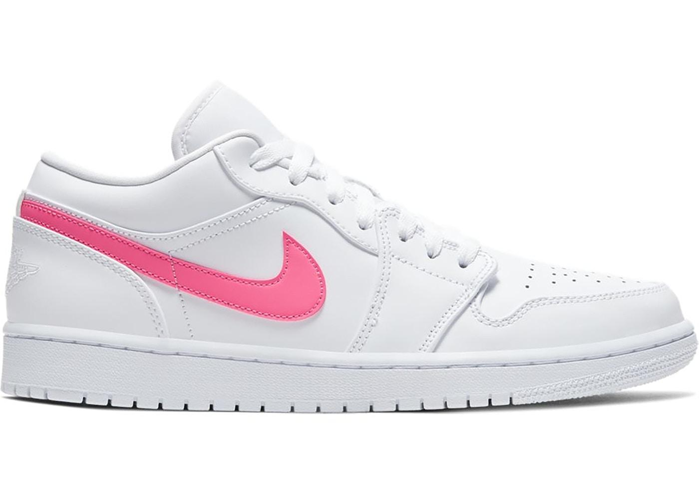 Jordan 1 Low White Multi Color Swoosh Cw7033 100