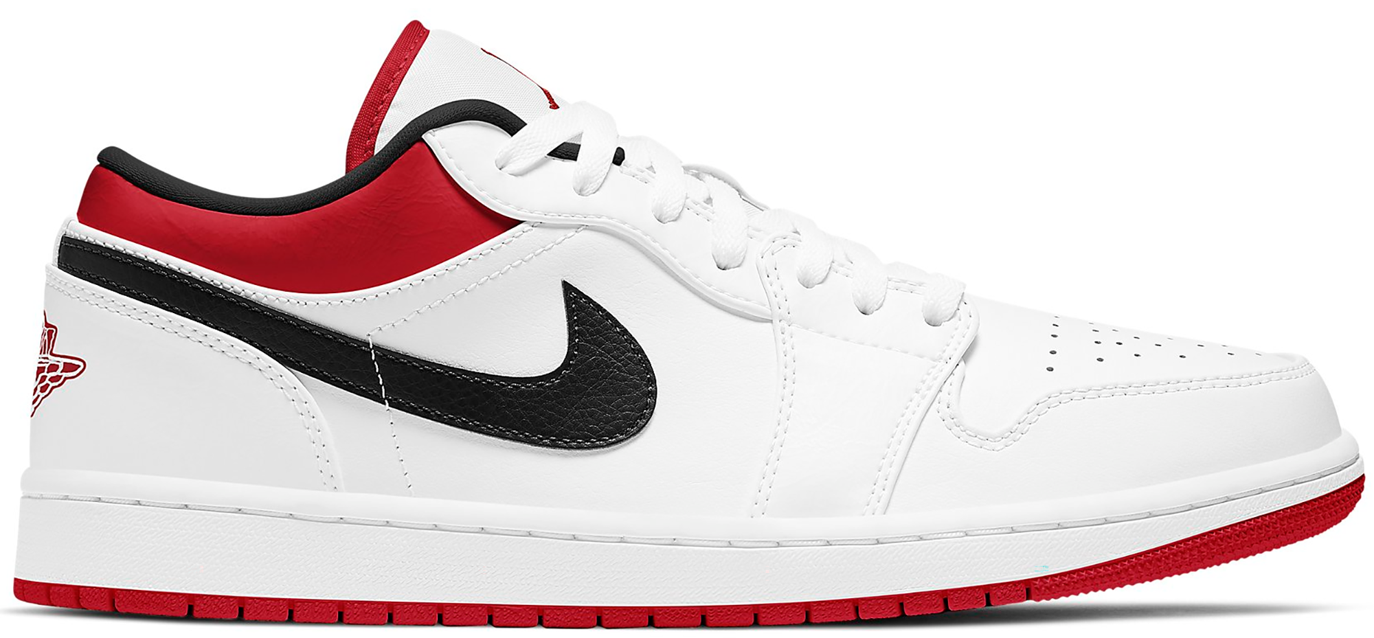 Jordan 1 Low White University Red Black