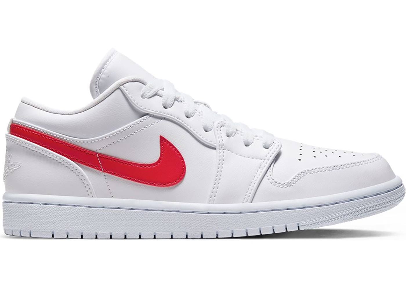 Jordan 1 Low White University Red W Ao9944 161