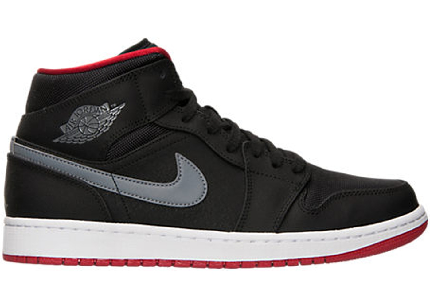 outlet store 6b99e 7de87 Jordan 1 Mid Black Cool Grey Gym Red