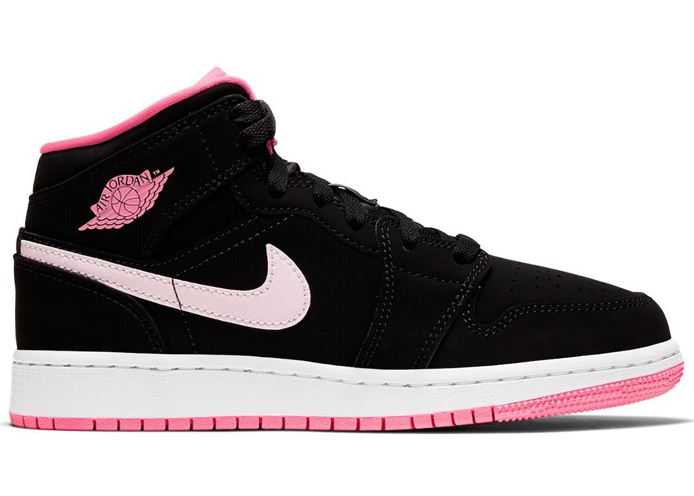 Jordan 1 Mid Black Digital Pink Gs 555112 066