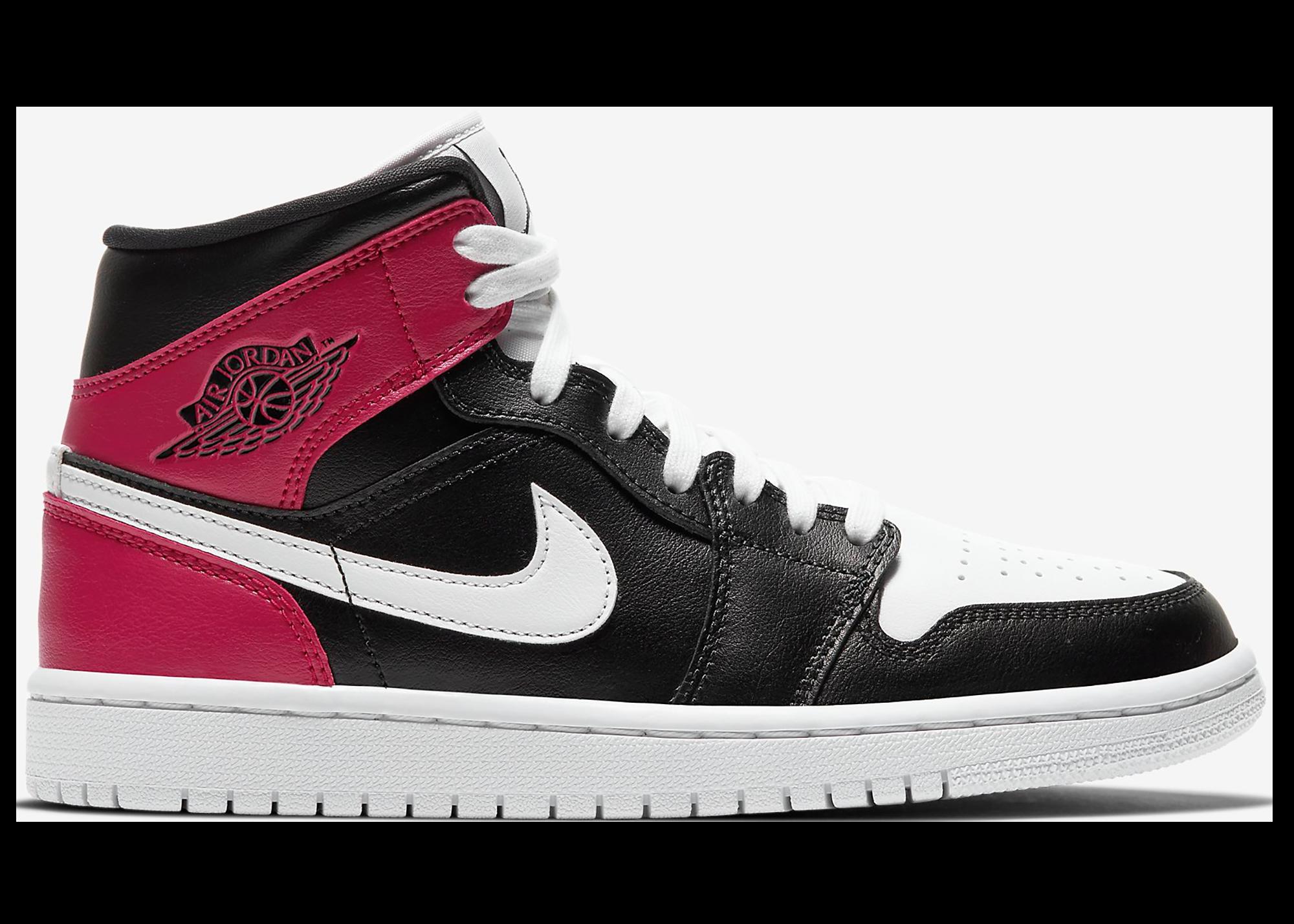 Jordan 1 Mid Black Noble Red (W