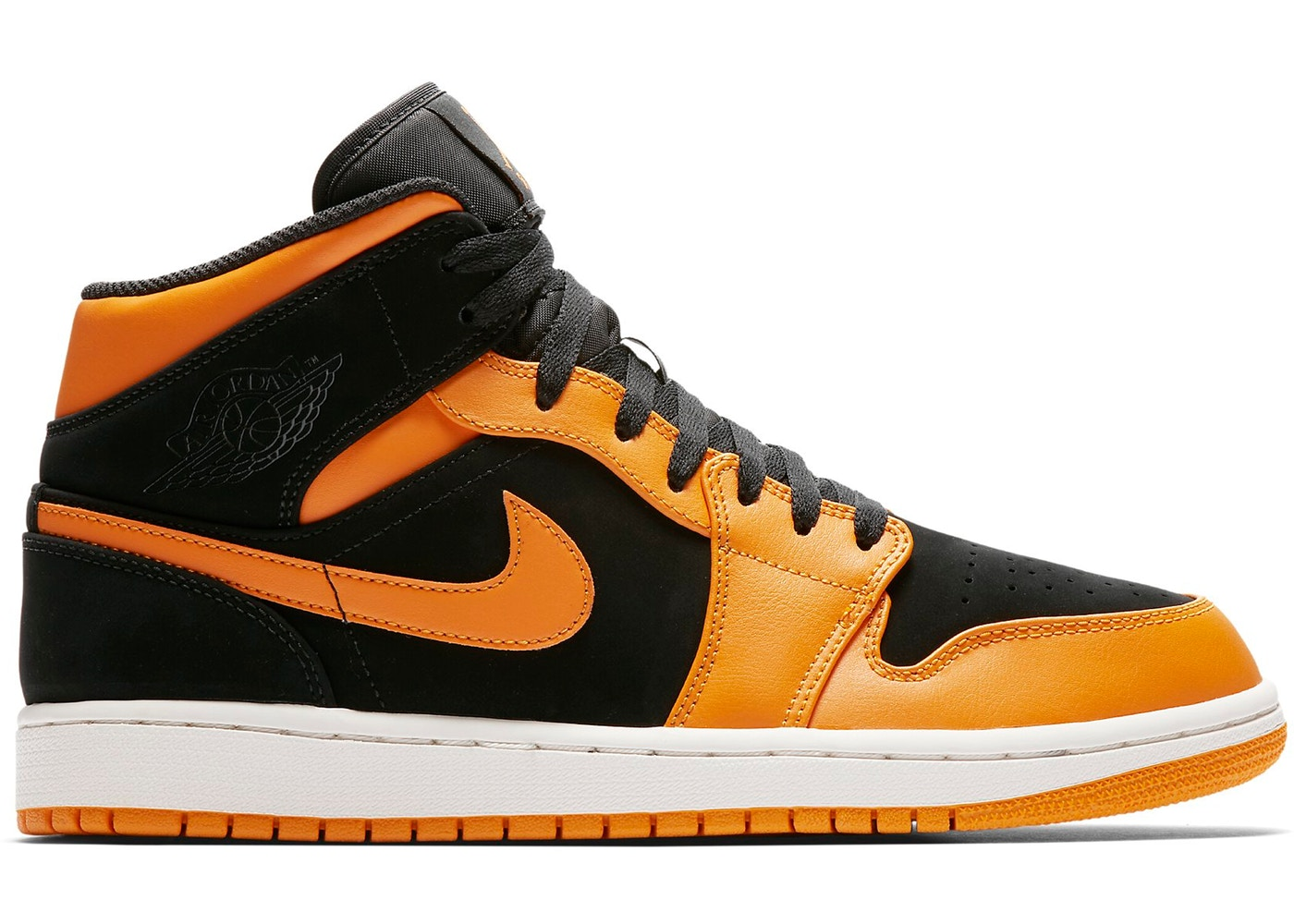 Jordan 1 Mid Black Orange Peel