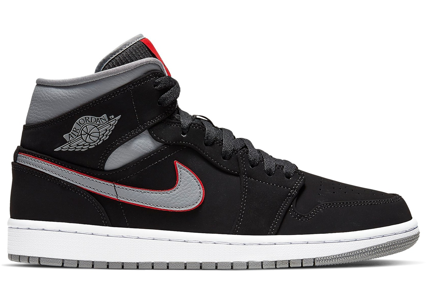 552decc5fb21a8 Sell. or Ask. Size 9. View All Bids. Jordan 1 Mid Black Particle Grey Gym  Red