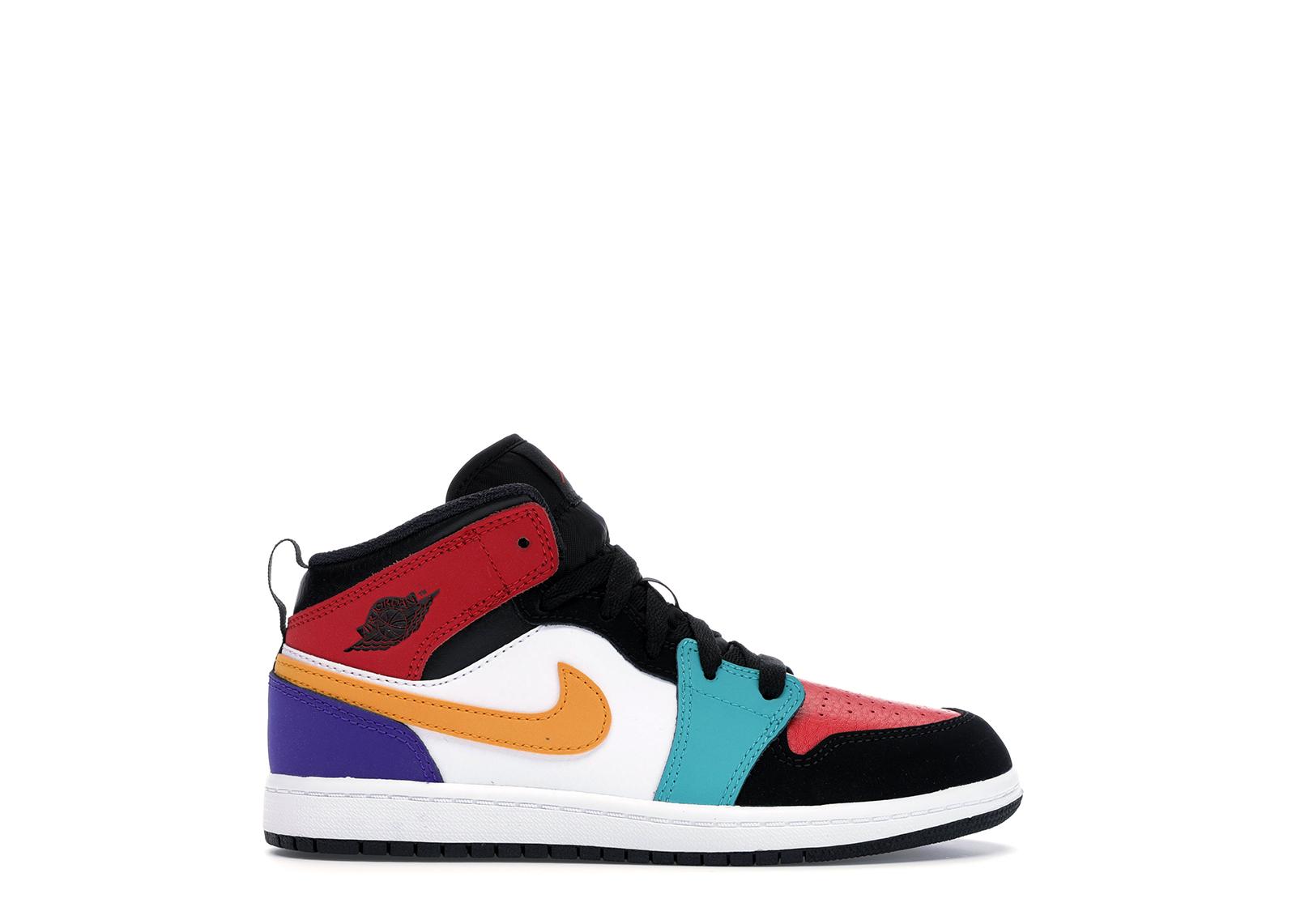 Jordan 1 Mid Bred Multi-Color (PS