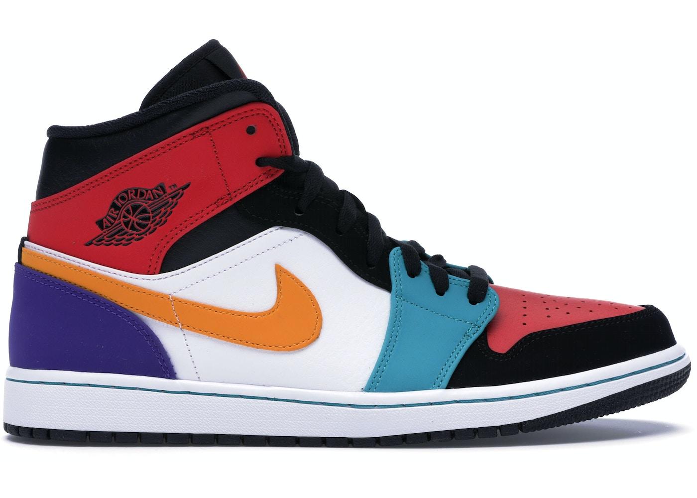 online store 135e5 1e7f7 Jordan 1 Mid Bred Multi-Color - 554724-125