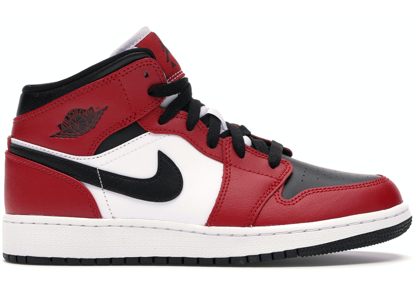 Jordan 1 Mid Chicago Black Toe Gs 554725 069