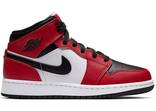 Jordan 1 Mid Chicago Black Toe (GS) - 554725-069