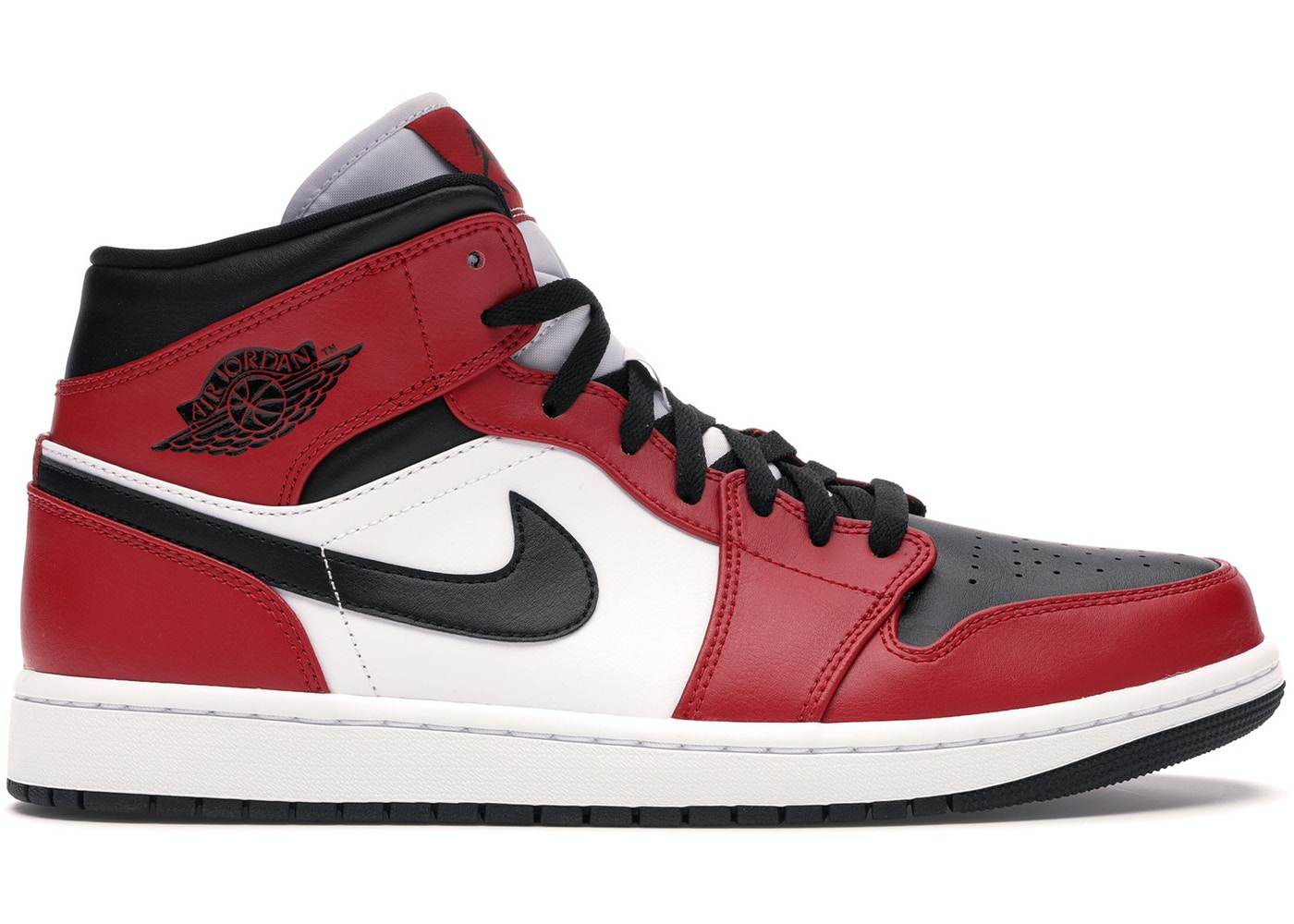 jordan 1 mid chicago toe 554724 069 jordan 1 mid chicago toe