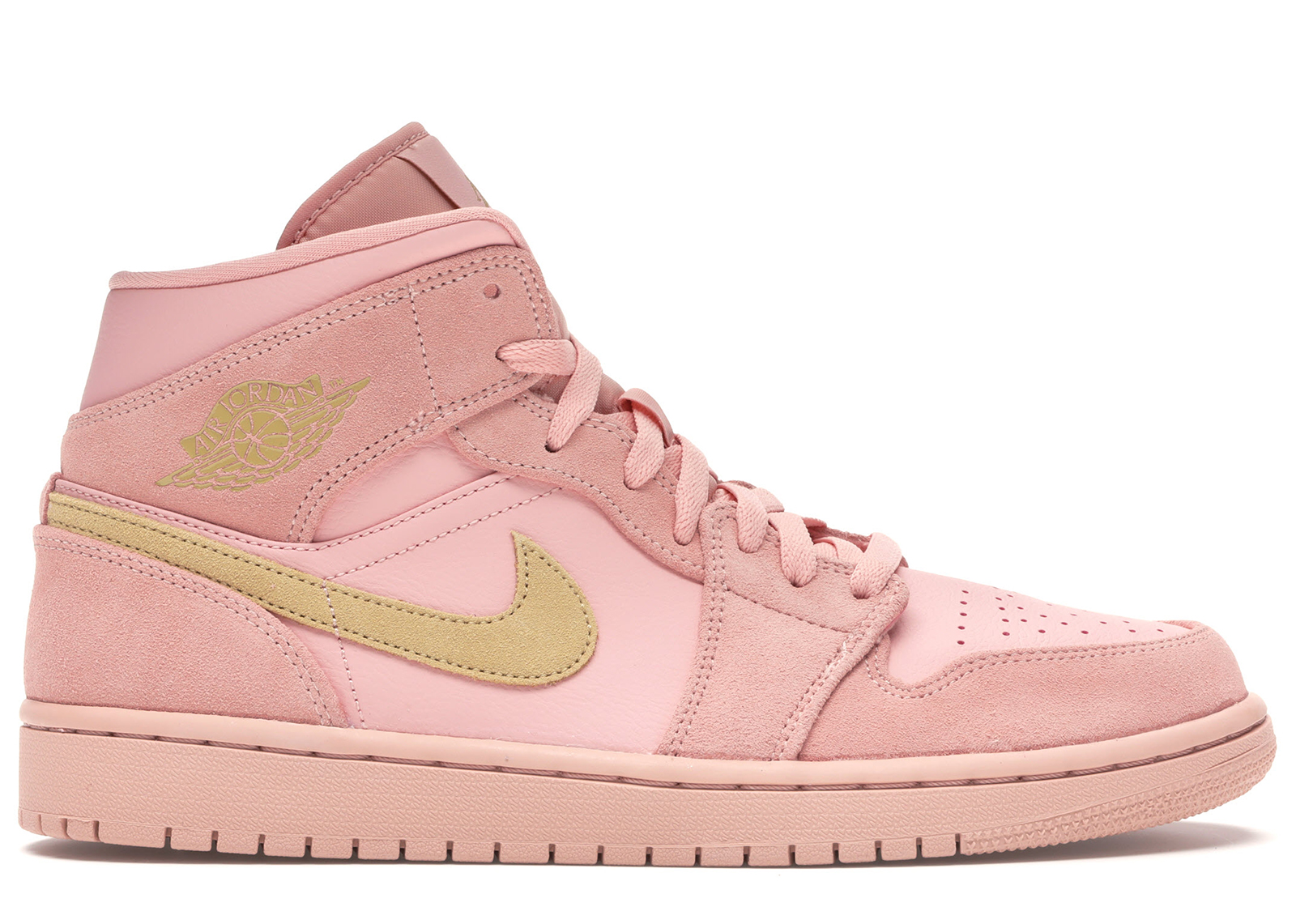 AIR JORDAN 1 RETRO MID SE CORAL STARDUST PINK 852542 600 NEW MIDS SELLING SUEDE