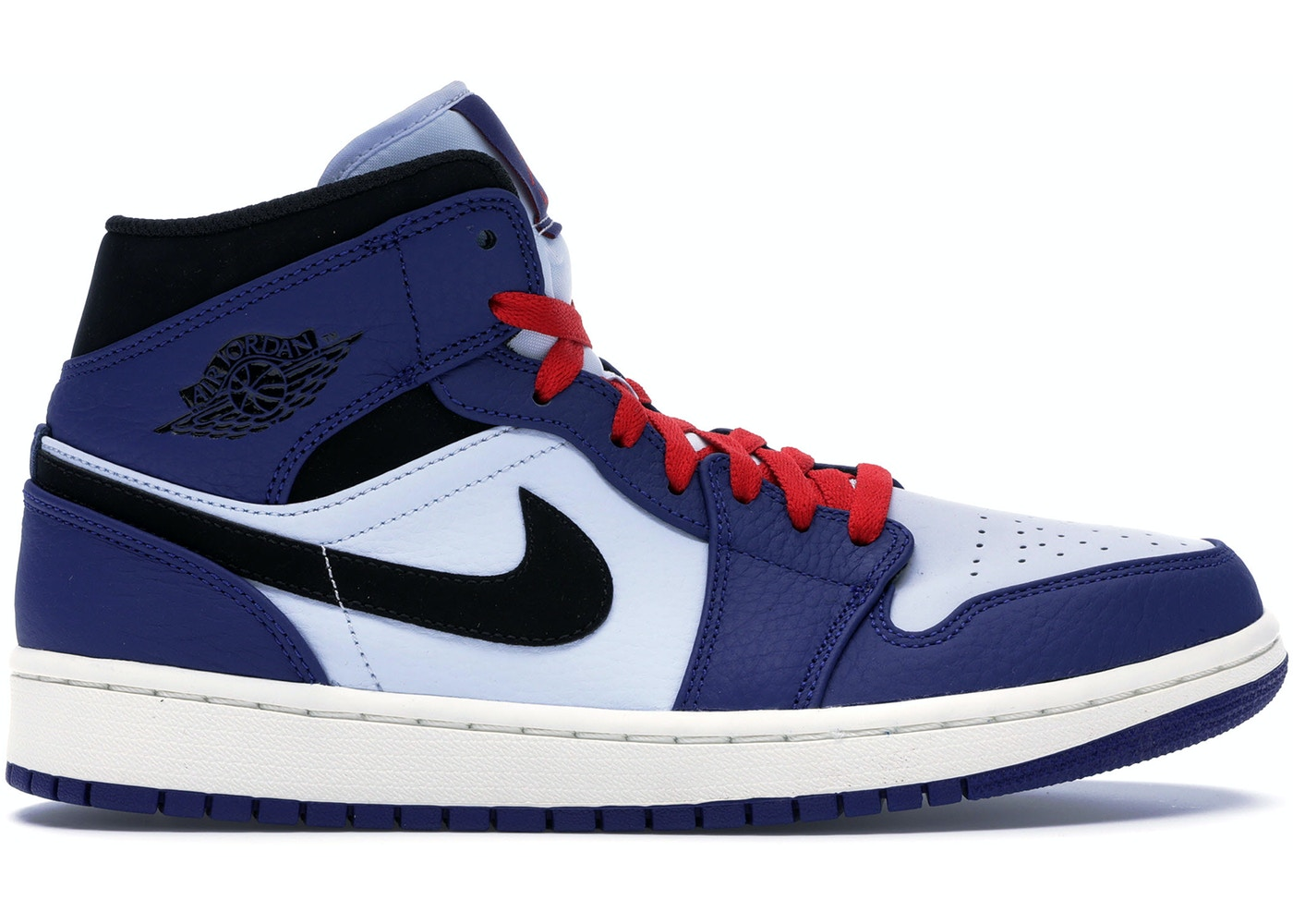 8f742a17c84168 Jordan 1 Mid Deep Royal Blue Black - 852542-400