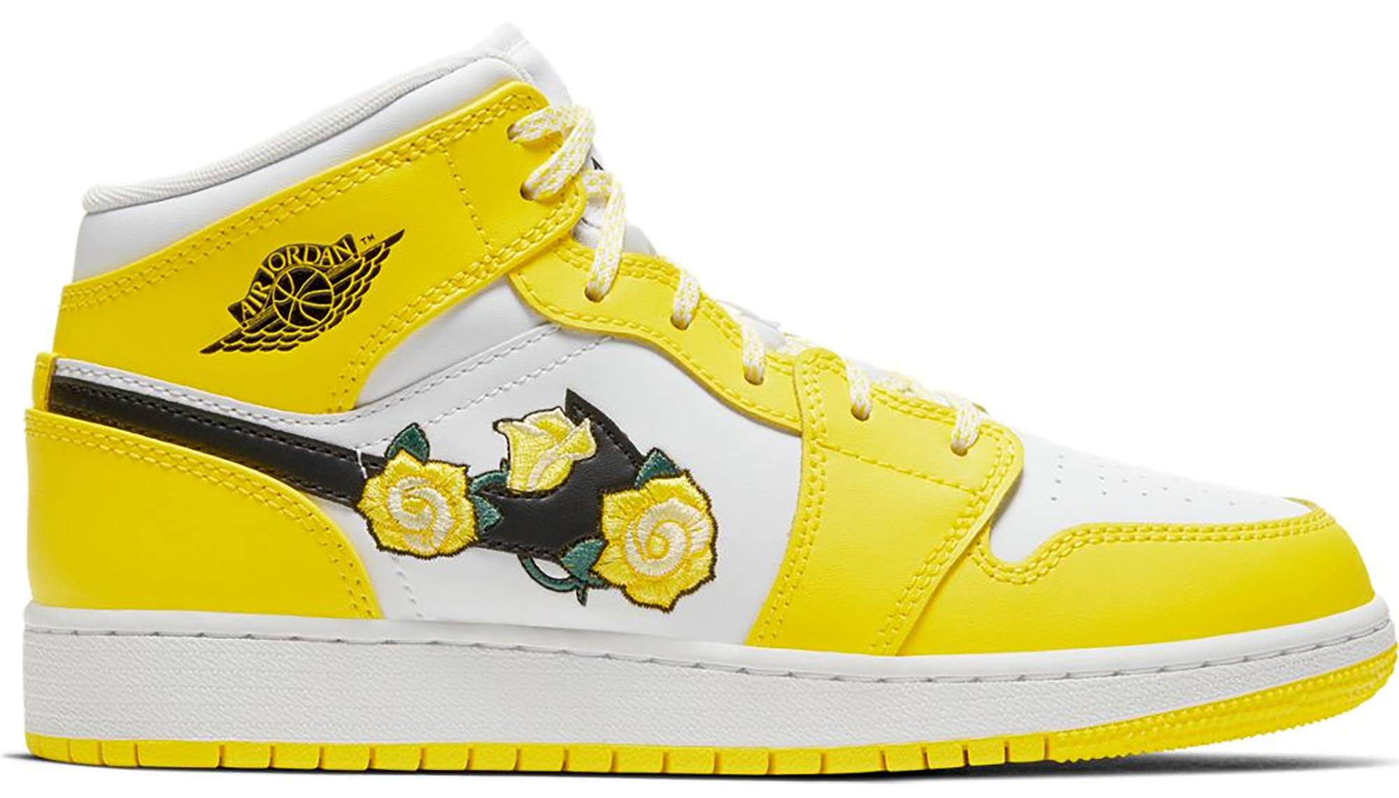 Jordan 1 Mid Dynamic Yellow Floral (GS