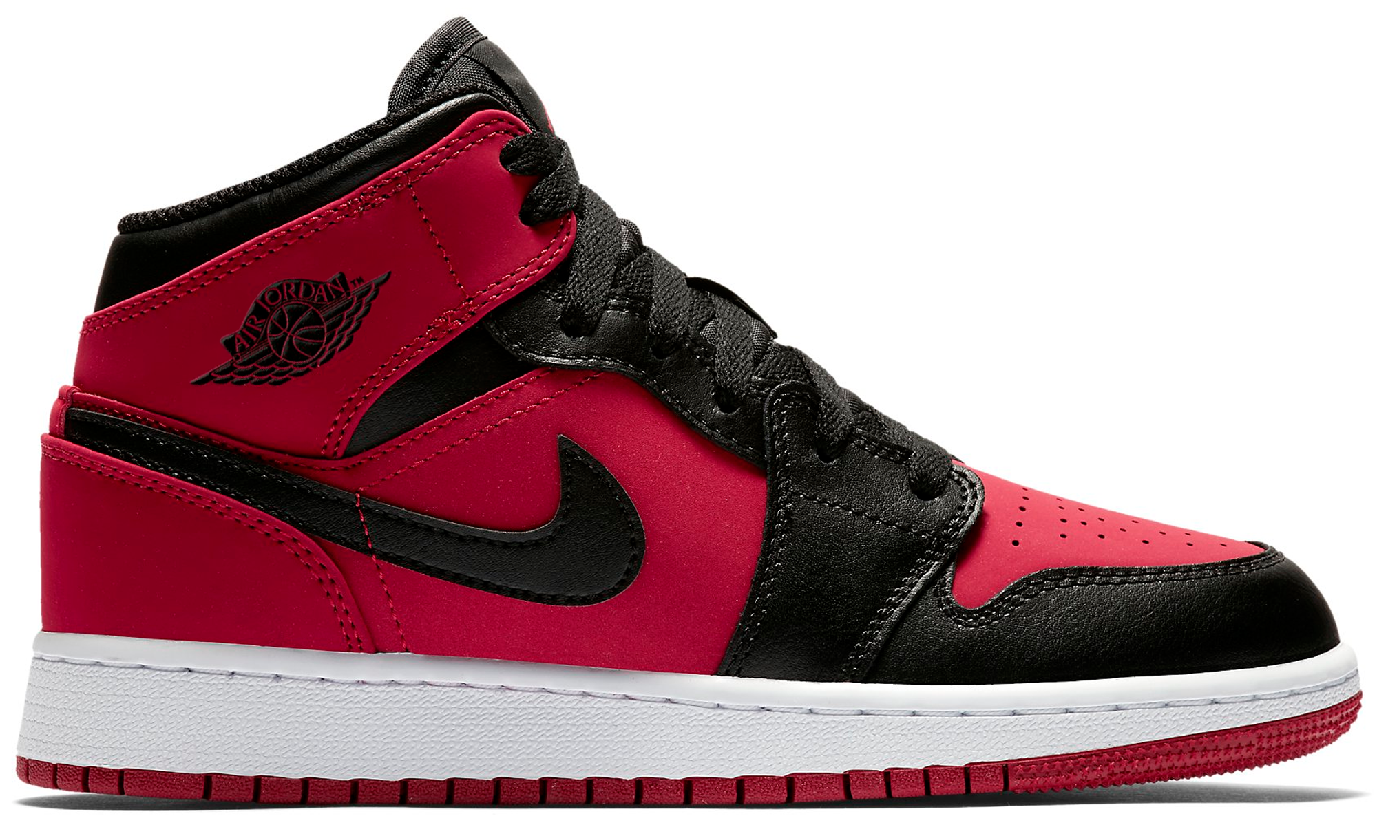 Jordan 1 Mid Gym Red Black