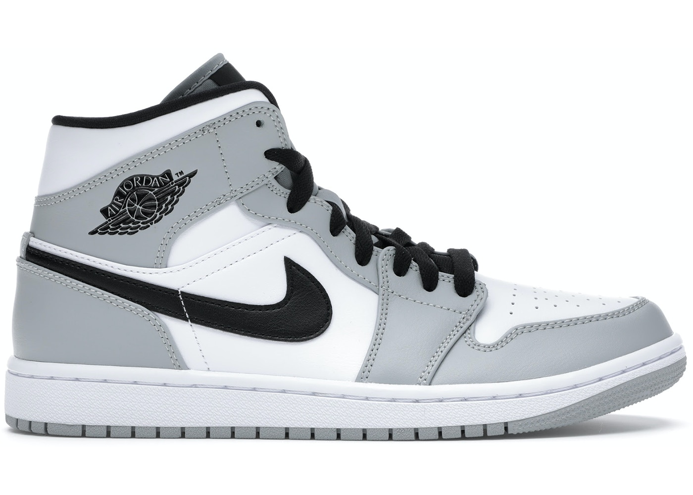 Download Jordan 1 Mid Light Smoke Grey